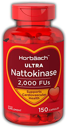 Horbaach Nattokinase 2000 fu 150 Capsules | Non-GMO, Gluten Free | Supports Cardiovascular and Circulatory Health Supplement