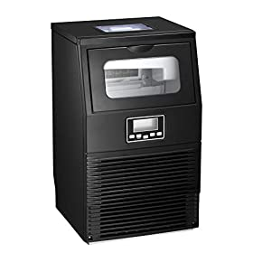 AGLUCKY Commercial Ice Maker Machine, Automatic Ice Maker,Ice Cube Ready in 11mins,8.8lbs Ice Storag
