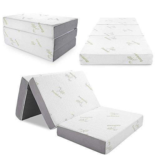 Inofia Memory Foam Folding Mattress with Removable Bamboo Cover
