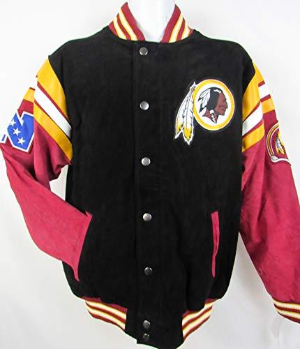 G-III Sports Washington Redskins Men Suede Jacket (Black/RED/Yellow, L ARDK 140 L