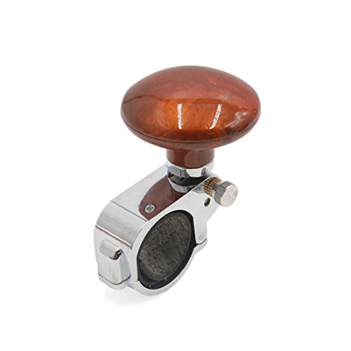 uxcell Brown Woodgrain Steering Wheel Spinner Knob Power Handle Booster for Auto (Woodgrain Steering Wheel)