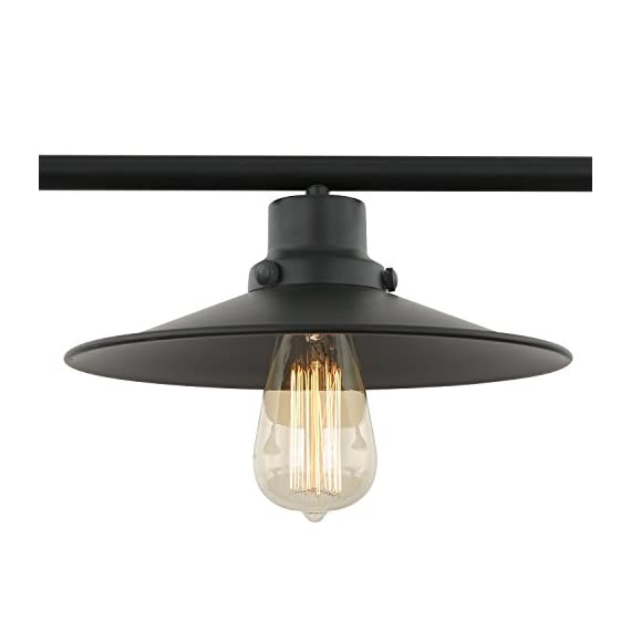 """Light Society Margaux 3-Light Kitchen Island Pendant, Matte Black, Vintage Modern Industrial Chandelier (LS-C114) - DIMENSIONS: Overall 10.25""""W x 37""""L x 60""""H. Shade 10.25""""W x 37""""L x 8.5""""H. Ceiling Canopy 4.75""""W x 19""""L x 1""""H ADJUSTABLE HEIGHT: 50""""H fully adjustable rods ( includes two 6"""", two 8"""" and six 12"""" rods). This chandelier is hardwired, installation required. BULB REQUIREMENTS: Uses 3 medium-base (E26) light bulbs. Works with incandescent, LED, CFL, halogen or wifi enabled and color changing bulbs (60W max, sold separately). Fully dimmable when used with dimmable bulbs and a compatible dimmer switch (not included) - kitchen-dining-room-decor, kitchen-dining-room, chandeliers-lighting - 41FvqMNrTlL. SS570  -"""