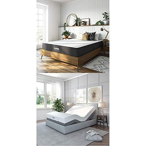 Classic Brands Adjustable Comfort Adjustable Bed Base with 10.5-inch Cool Gel Memory Foam Mattress