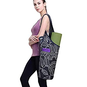 Well-Being-Matters 41FvreR3cFL._SS300_ ELENTURE Yoga Mat Bag with Strap for 1/4-Inch 1/3-Inch Thick Exercise Yoga Mat, Yoga Mat Tote Carrier Bag with Pockets