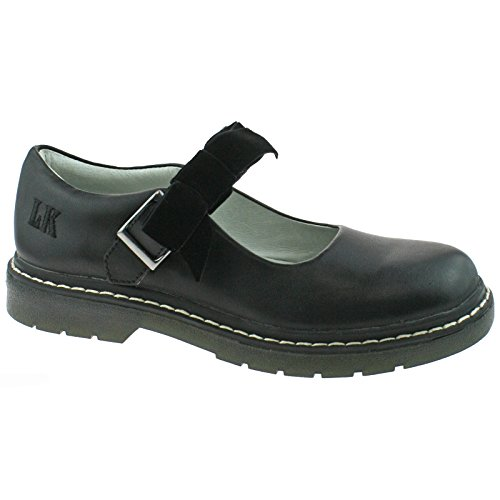 F Leather Snr uk Kelly School Shoes Lk8286 Frankie 37 cb01 4 Fitting Black Lelli Tq6nwzYBx
