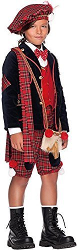 Italian Made Deluxe 7 Piece Baby & Older Boys Scottish Bagpipe Player Carnival Around the World Book Day Week Halloween Fancy Dress Costume Outfit 0-10 years (7 years) -
