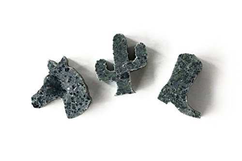 SPARQ Home Soapstone Cowboy Whiskey Shapes / Rocks - Set of 3