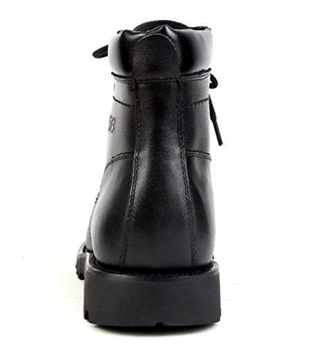 Martin Militar Negro Black Invierno Cuero 45 42 Cordones Clásico 39 Trabajo De A Combate 45 Boots Swnx Con Black Genuino Talla Zapatos Hombre Casual wBPwZq0