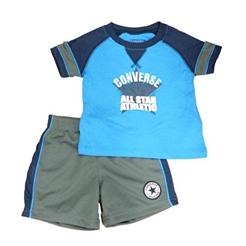 Converse Infant & Toddler Boys 2 Piece Blue T-Shirt & Athletic Mesh Shorts Set ()