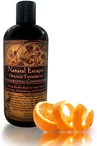 Organic Orange Tangerine Conditioner | Lightweight Conditioner for Oily Hair, Gray Hair, Hair Loss & More | Leaves Hair Soft & Healthy | Paraben & Sulfate Free Conditioner | 16 oz