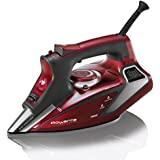 Rowenta 1800-Watt Professional Digital LED Display Steam Iron with Stainless Steel Soleplate, 400-Hole, Red, DW9281