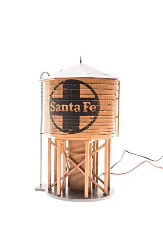 Broadway Limited HO Scale Operating Water Tower with Sound - Santa Fe/ATSF ()