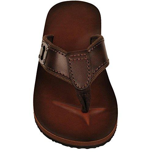 Wilsons Leather Mens Bottle Opener Leather Flip Flop Brown 6nmKJvC