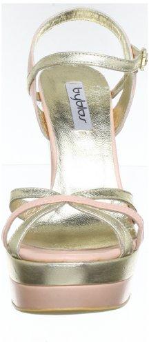 Byblos GAIA CXA8471 - Plataformas de cuero para mujer Rosa (Pink (PLATINO/ROSA))