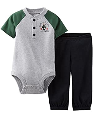 Carter's Baby Boys Henley Bodysuit & Pants Set