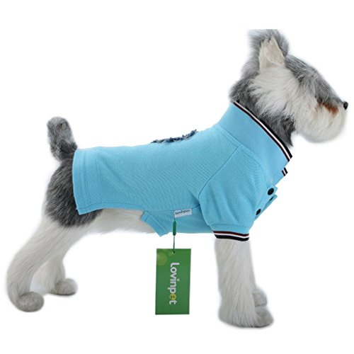 LovinPe Dog Clothes, Stripe Dogs Pajamas, Dog Apparel, Dog Polo Shirt Cotton Outdoor & Indoor Dogs Clothes Pajamas Pet Clothes Apparel Soft Comfort PJS