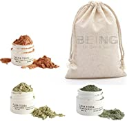 LIVE BY BEING Mini Facial Mask Trio Sampler Spa Gift Set – Gentle enough for all Skin Types, Great as Bridesma