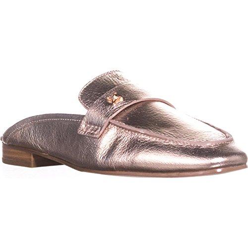 BCBGeneration Womens Sabrina Leather Square Toe Mules, Rose Gold, Size 5.0