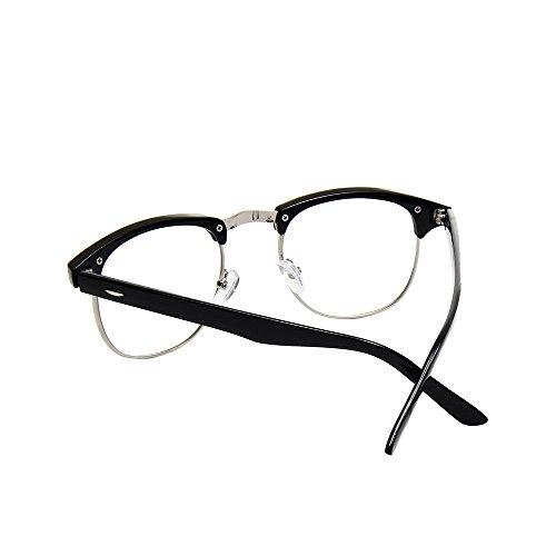 cb83f805e7 Shiratori New Vintage Classic Half Frame Semi-Rimless Clear Lens Glasses …