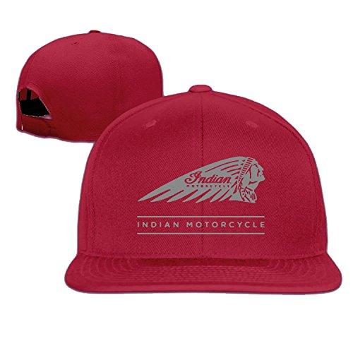 American Indian motocicleta Gorra de béisbol Hip Hop sombrero negro (5colores) Rojo