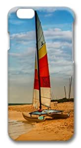 Boat on oahu beach Polycarbonate Hard Case Cover for iphone 6 plus 5.5 inch 3D