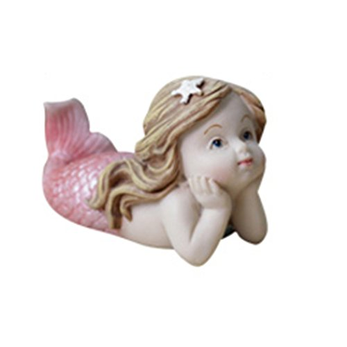 Miniature Fairy Garden Terrarium Decorations Lovely Little Mermaid Figurine Table Shelf Decor