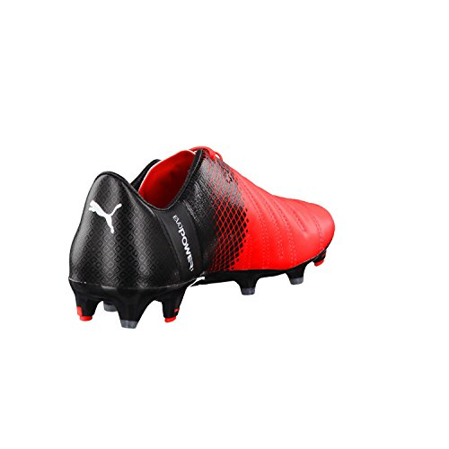 Puma Evopower 1.3 Lth FG, Botas de Fútbol para Hombre Red Blast-Puma White-Puma Black