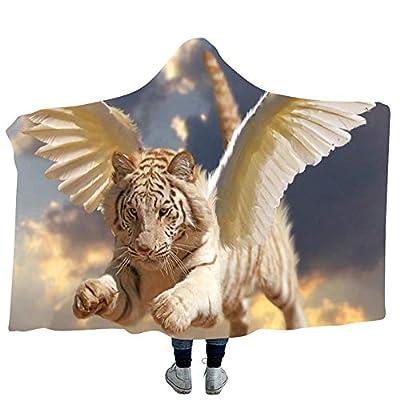 YJZ Tiger 3D Hooded Blanket Soft Sherpa Fleece Blankets for Adults Cozy Bathrobes Cloak Hood Bath Blanket with Hood,7,Kids