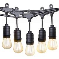TaoTronics Commercial Grade 50-Foot 16-LED Outdoor String Lights