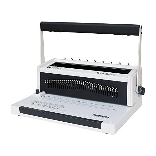 TruBind Wire Binding Machine - TB-W20A - Affordable In-Office Book Binding - Uses 3:1 Wire-Loop Binding - Hole Punch up to 20 Sheets - Adjustable and Portable - Binds up -