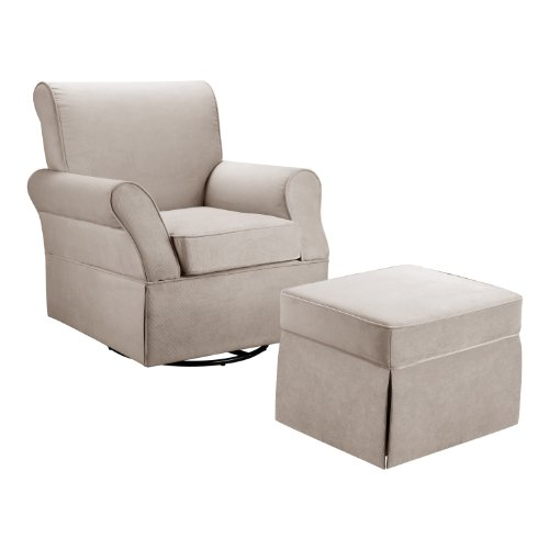 Baby Relax Swivel Glider and Ottoman, Beige ()