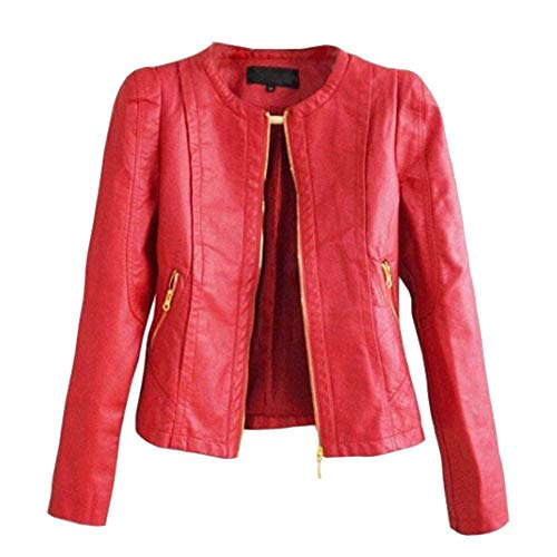 Primaverile Collo Lunga Autunno Rot Donna Costume Biker Pelle Jacket Fit Eleganti Manica Vintage Moto Puro Slim Giacca Colore Giubbotto Rotondo Casuali Di Giubbino Fashion 4OgnXt
