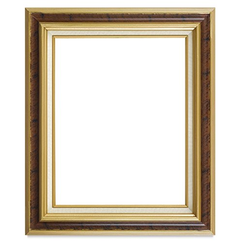 Your Canvas Creations YCC Home Office Wall Décor Open Back Picture Frame, Frame 1 antique burlwood and gold, Size 20x24 ()