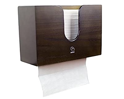 Paper Towel Dispenser For Kitchen & Bathroom - Wall Mount / Countertop Multifold Paper Towel, C-Fold, Zfold, Tri fold Hand Towel Holder Commercial (Espresso)