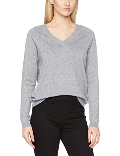 Neck Melange Blouse V Grey Melange Vero L Grey Light S Felpa Vmkaris Grigio Noos Moda Donna Light nTxnwfaXYB