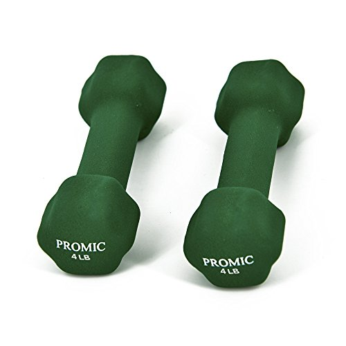 PROMIC Hand Weights Deluxe Neoprene Coated Cast Iron Dumbbells with Non Slip Grip, Set of 2