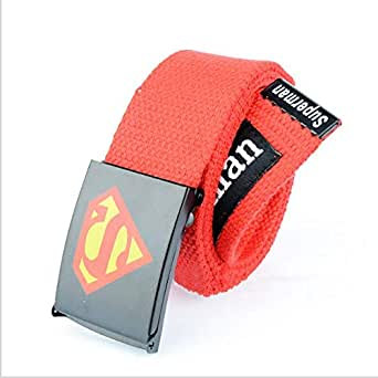 Red Canvas Belt For Men