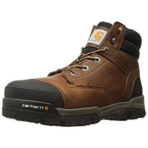Carhartt Men's Ground Force 6-inch Brown Waterproof Work Boot - Composite Toe, Peanut Oil Tan Leather, 11 M US - New for 2017 - CME6355