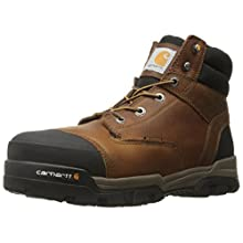 Carhartt Men's Ground Force 6-Inch Brown Waterproof Work Boot - Composite Toe, Peanut Oil Tan Leather, 11 W US - New For 2017 - CME6355