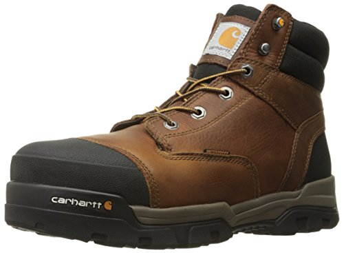 Carhartt Men's Ground Force 6-Inch Brown Waterproof Work Boot - Composite Toe, Peanut Oil Tan Leather, 9.5 W US - New For 2017 - CME6355 (Cat Safety Boots)