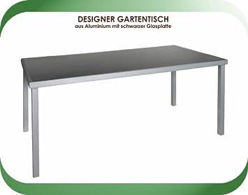Amazon De Design Gartentisch Glastisch Tisch 180x90 Alu Glas