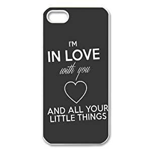 1D One Direction Quotes iPhone Case for iphone 5/5s, Well-designed TPU iphone 5s Case, iphone accessories Kimberly Kurzendoerfer