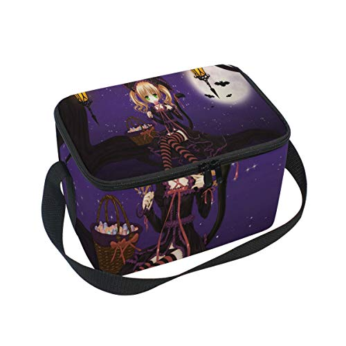 Special Halloween Anime Wallpaper Insulated Lunch Bag Tote Bag Cooler Lunchbox for Picnic School Women Men Kids