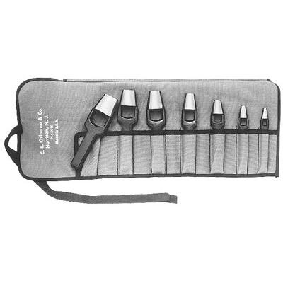 Arch Punch Sets - 7pc. arch punch set w/tool roll 3/16 5/16 7
