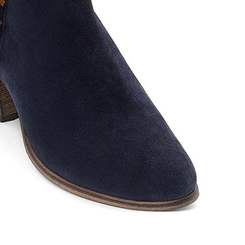 La Redoute Collections Frau Boots, Leder, Flechtdetail Gre 36 Blau