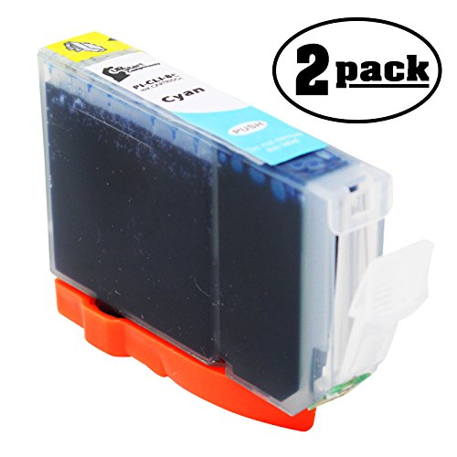 2-Pack Replacement Canon PIXUS IP4300 Printer Cyan Ink Cartridge - Compatible Canon CLI-8C Cyan Ink Tank
