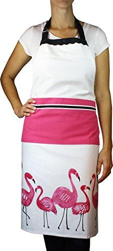 MUkitchen Adjustable Cotton Apron with Large Pockets, 35