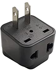 ZOER Universal Travel Adapter Power Plug Converter from UK/EU/AU Plug to USA/Canada,Charge 2 Devices at Once (WDI-6-BK)