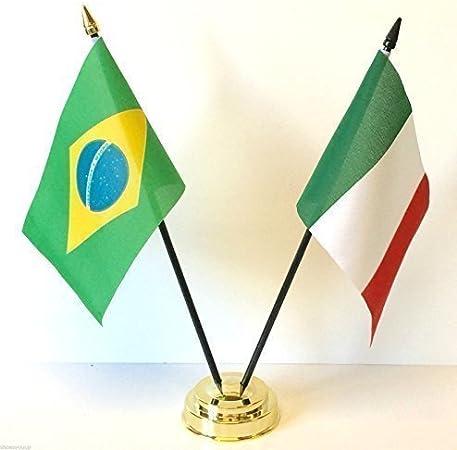 Rio 2016 Juegos Olímpicos de Brasil y Italia bolas de cristal mesa de juego de banderines + Base: Amazon.es: Hogar