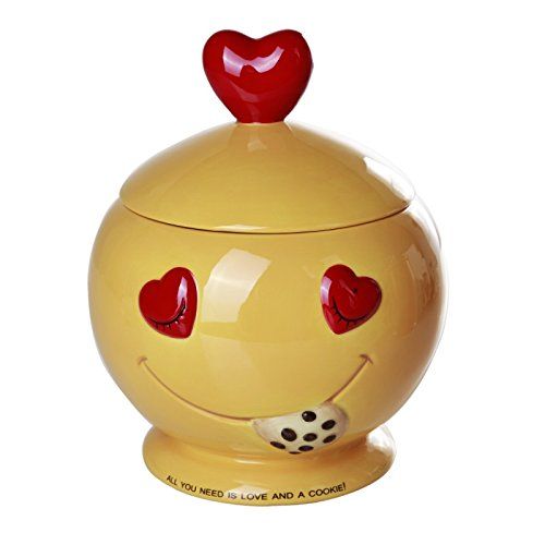 Pacific Giftware All You Need is Love and Cookies Ceramic Cookie Jar 8 Inch Tall ()